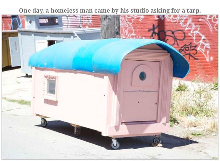Homeless Shelters Made Out Of Yesterday's Garbage (25 pics)