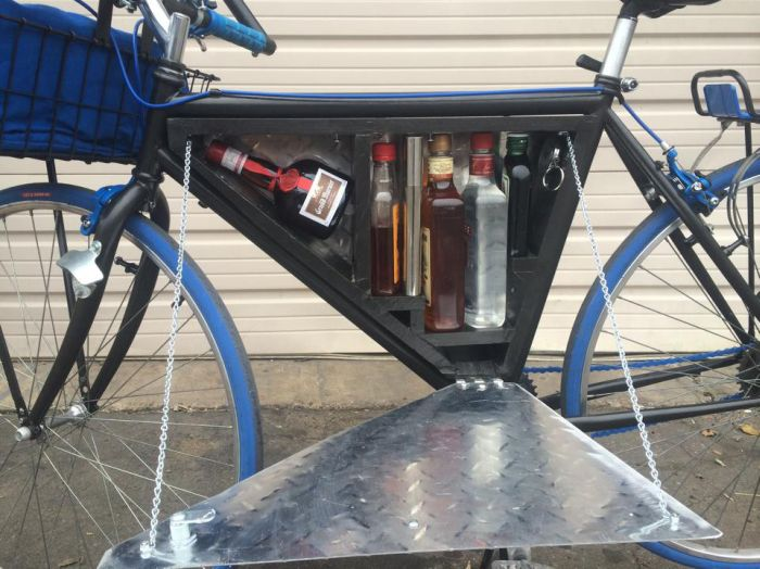 See What's Stashed In This Bike's Secret Compartment (2 pics)