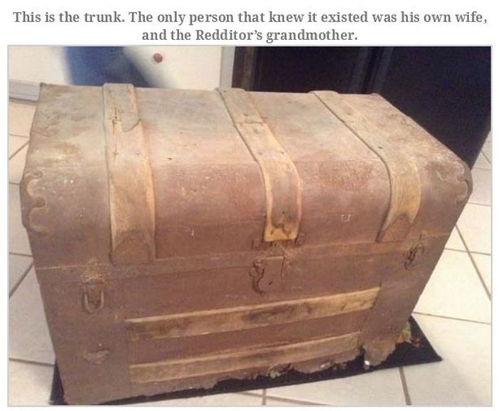 Old Man Leaves Behind Fascinating Treasure Trunk (35 pics)