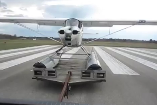Watch This Plane Life Off From A Trailer
