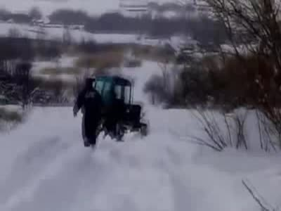 Russian Tractor Drivers Showing Off Their Skills