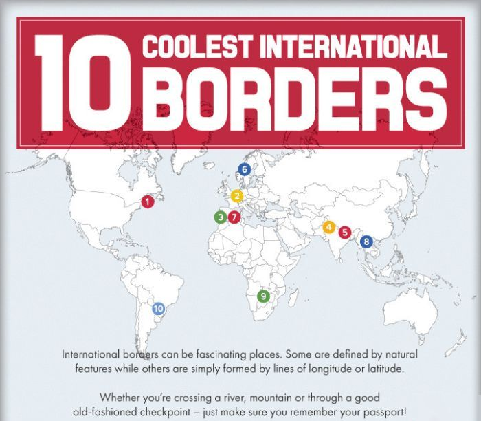 10 International Borders That Will Blow You Away (infographic)