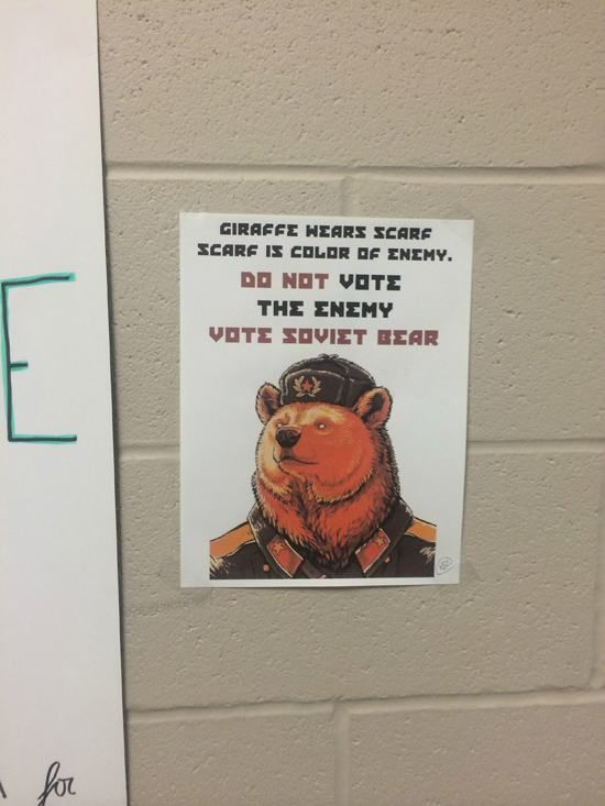 Vote Soviet Bear In For Student Council (16 pics)