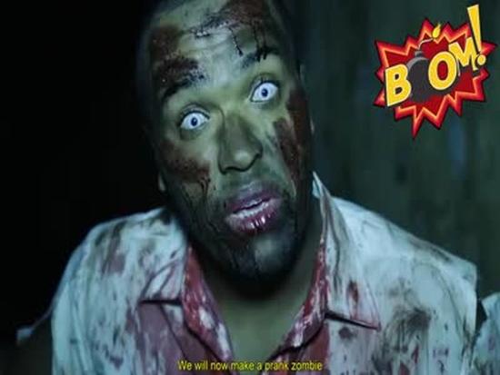 Scary Brazilian Zombie Prank