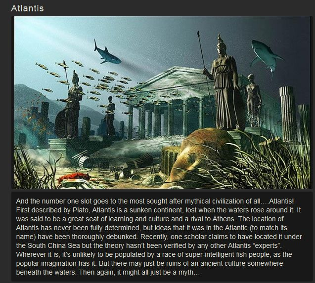 Top Ten Mythical Places That Could Exist (10 pics)