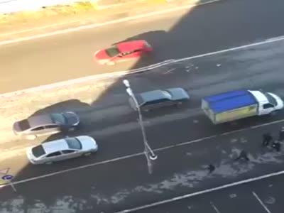 Pothole On Russian Road