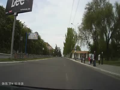 Tank On The Road Scares Driver