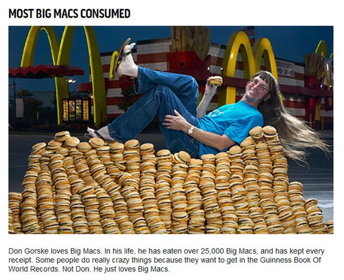 Unimpressive Guinness World Records For Food (10 pics)