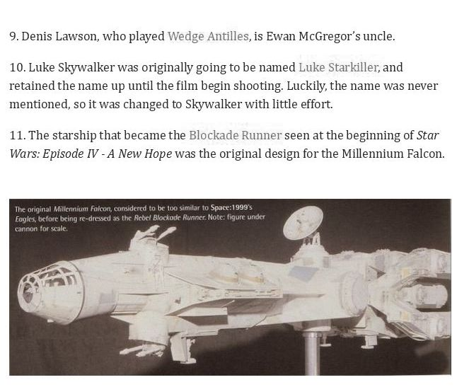 58 Star Wars Facts From A Galaxy Far Far Away (19 pics)