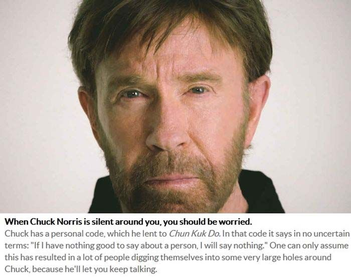 Awesome Chuck Norris Facts That Are Also True (10 pics)