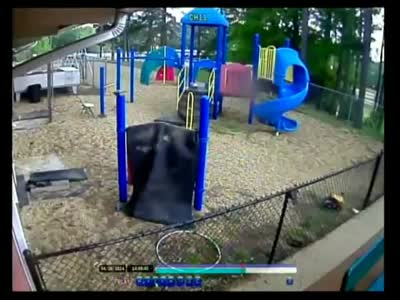 Tornado Smashes Into A Kids Playground