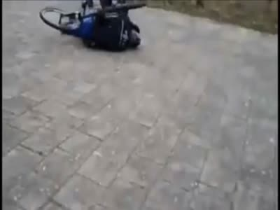 Police On A Bicycle Ride Gone Wrong