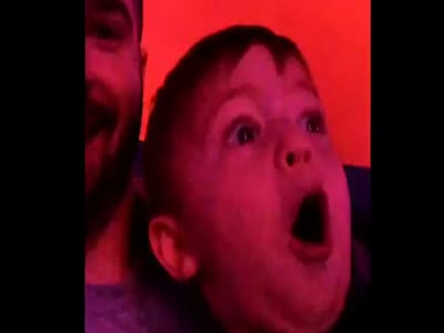 Boy's Reaction To The Fireworks