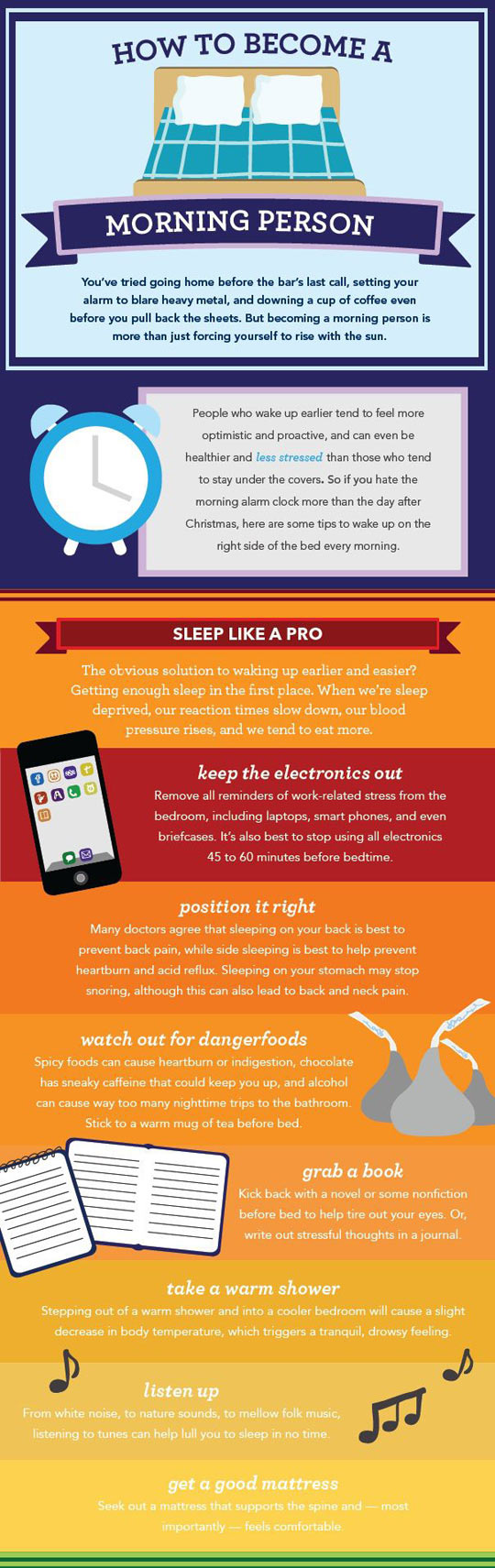How You Can Become A Morning Person (infographic)