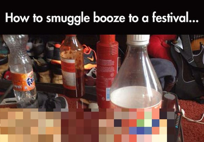 Awesome Trick For Smuggling Alcohol (4 pics)