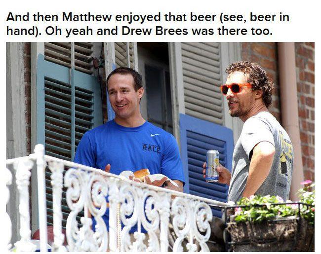 Brad Pitt Hooks Matthew McConaughey Up With A Beer (9 pics)