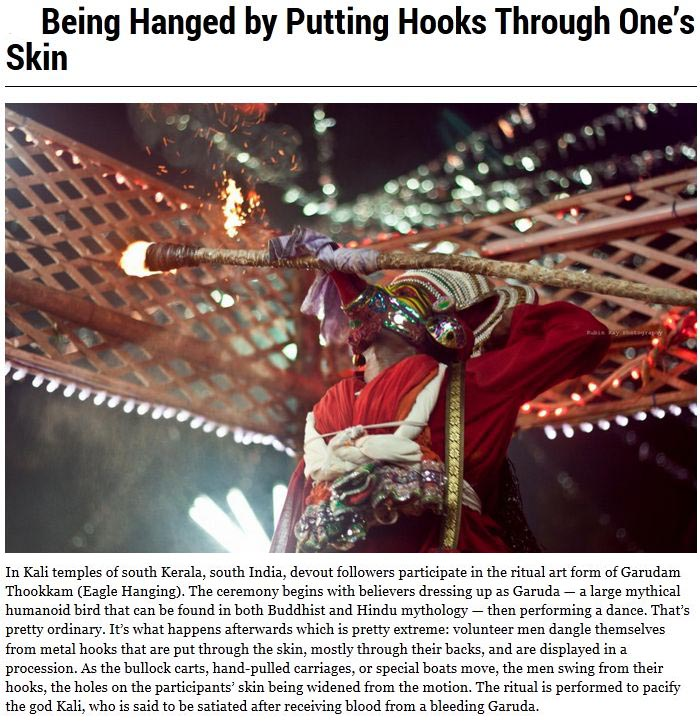 Religious Rituals That Are Weird And Creepy (10 pics)