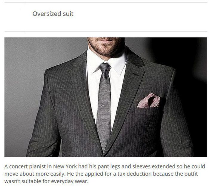 The Most Ridiculous Tax Deductions Of All Time (25 pics)