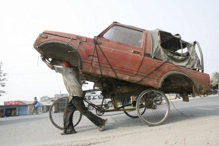 The Strangest Transportation Methods Ever (50 pics)