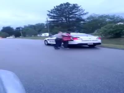 Aggressive Cop Arresting A Guy