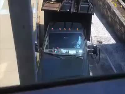 Crazy Truck Driver And A House