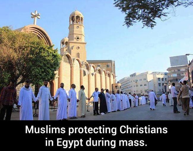 Christians Protecting Muslims And Vice Versa (2 pics)