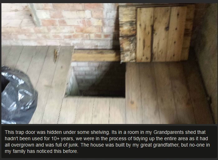 Man Finds Secret Room At His Grandparent's House (9 pics)