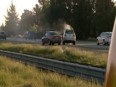 Multiple Car Crashes On The Highway