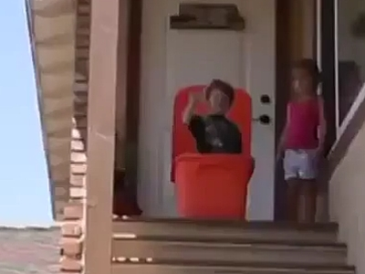 Kids Having Fun On The Stairs