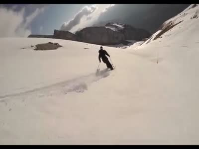Skiing On The Hill Without Snow