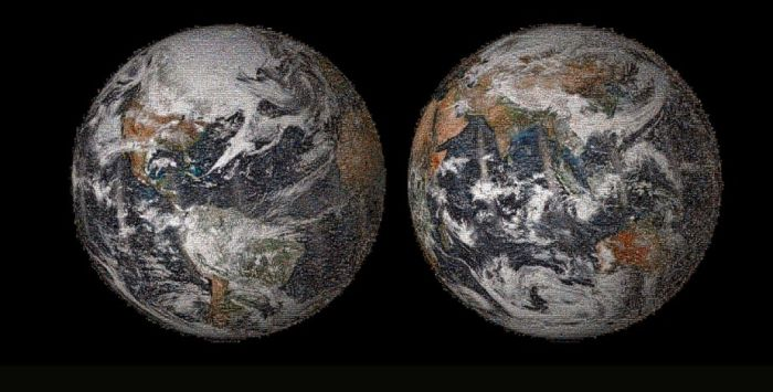 Planet Earth Made Up Of Selfies (5 pics)