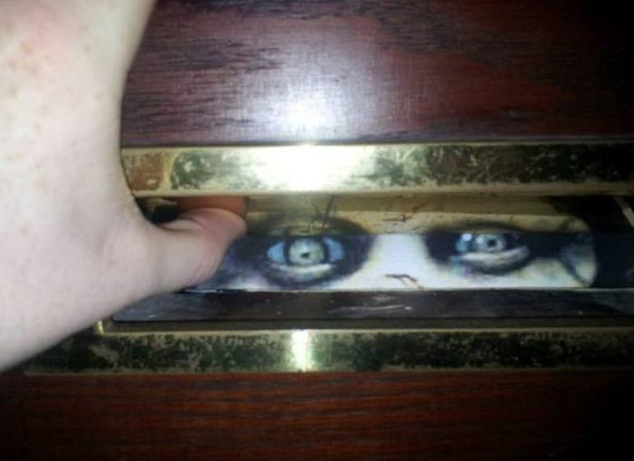 Zombie In The Mail Slot (3 pics)