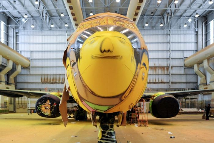 Graffiti Artists Paint The Coolest Plane Ever (18 pics)