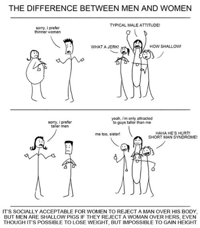 The Big Differences Between Men And Women (31 pics)