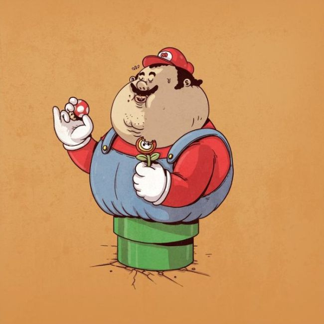 Your Favorite Characters Have Packed On A Few Pounds (25 pics)