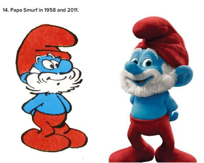 These Cartoon Characters Have Come A Long Way (25 pics)