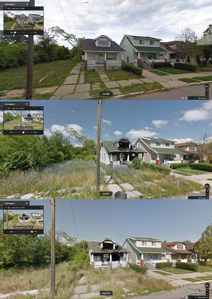 Google Steet View Documents The Decline Of Detroit (10 pics)