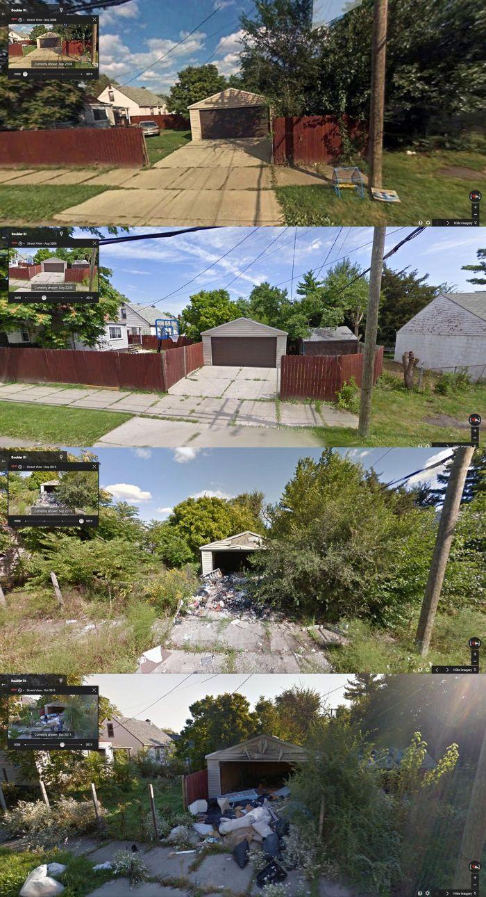Google Steet View Documents The Decline Of Detroit (10 pics)