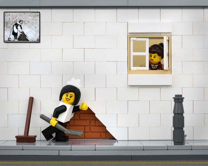 Amazing LEGO Street Art By Bricksy