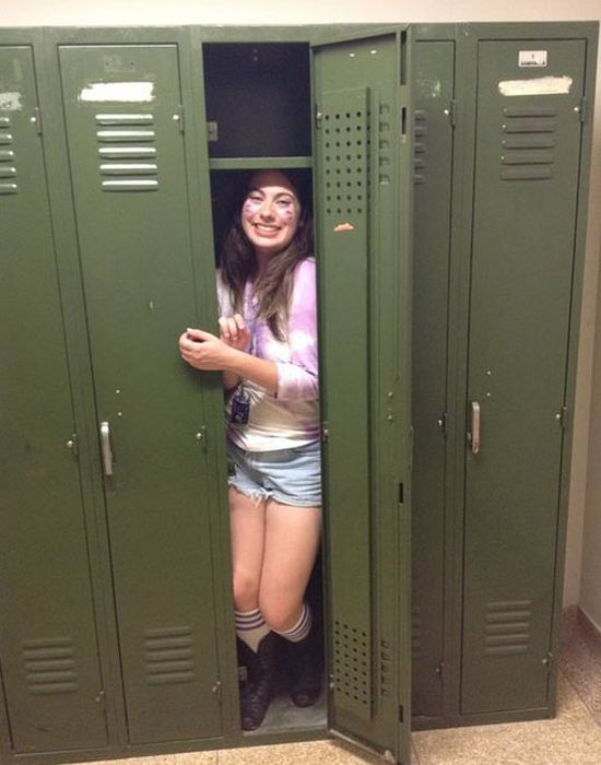 Death By School Locker (2 pics)