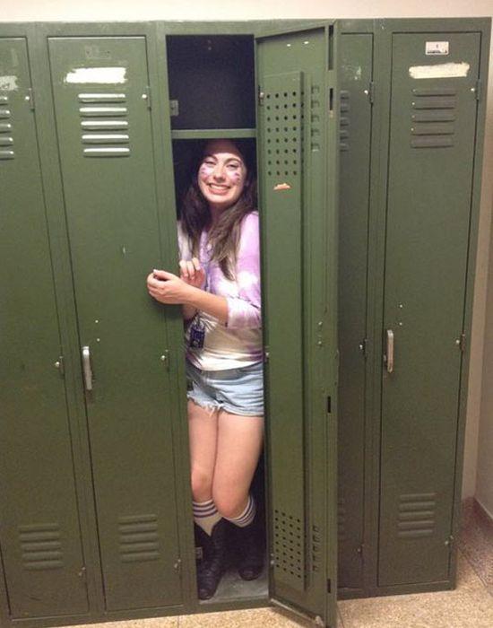 Death By School Locker (2 pics)