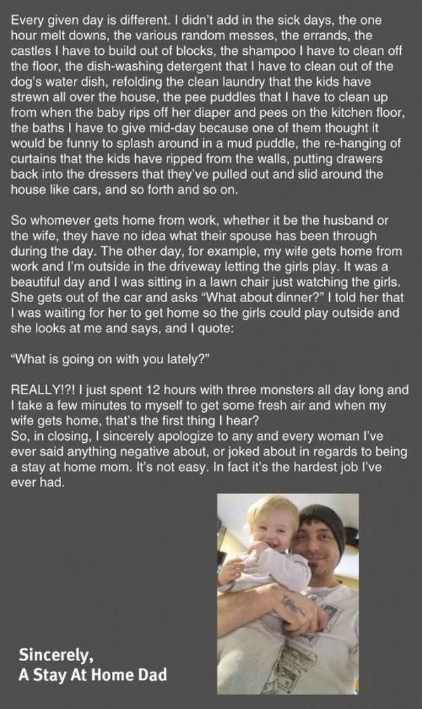 What It's Really Like To Be A Stay At Home Dad (7 pics)