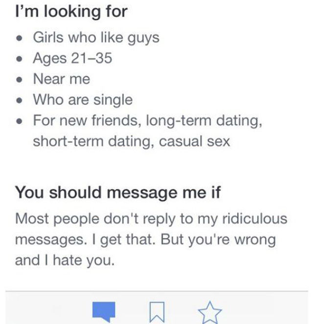This Guy's Online Dating Profile Is A Win (10 pics)
