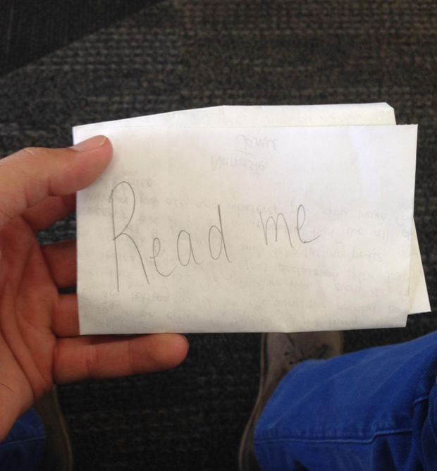 Touching Letter Hidden At The San Francisco Airport (2 pics)
