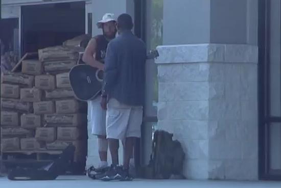Homeless Guy Helps The Homeless Street Musician