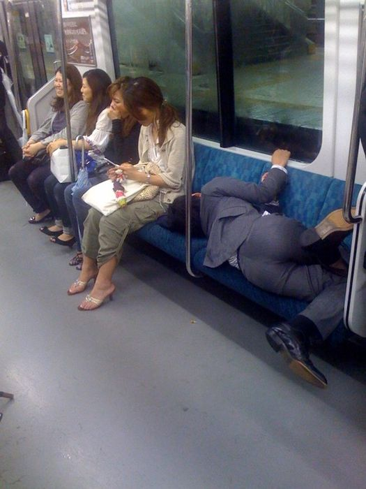 Businessmen Of Japan Get Drunk And Pass Out (20 pics)