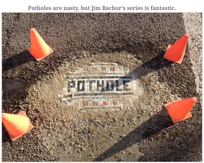The Coolest Way To Cover Potholes (10 pics)