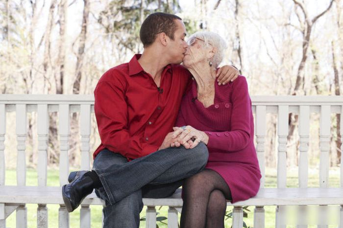 This Guy Likes Old Women, Like REALLY Old (8 pics)
