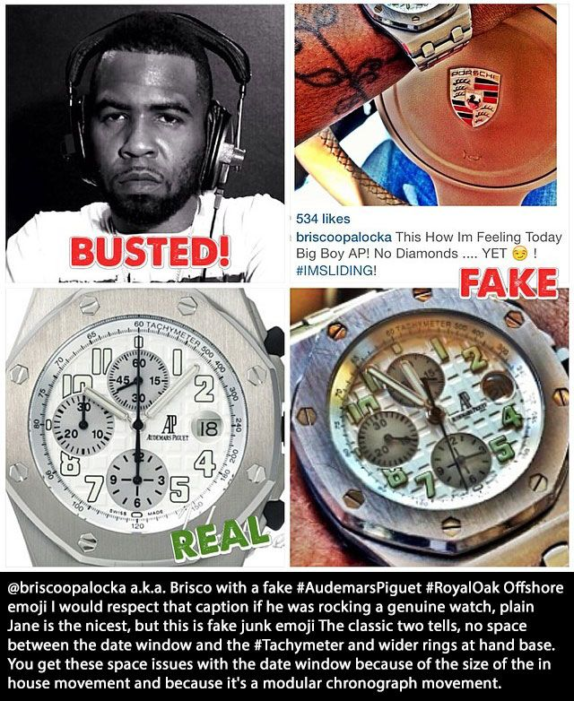 Real Rappers That Have Fake Watches (11 pics)