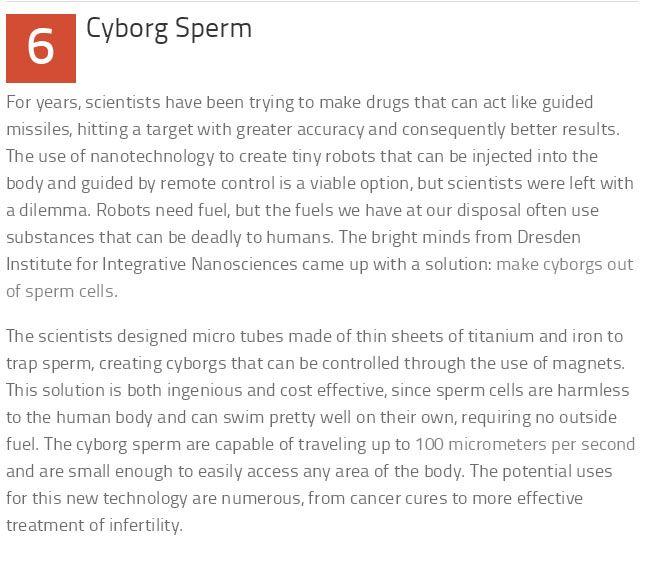 10 Weird But True Facts About Sperm (11 pics)